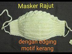 Crochet Mask, Crochet Faces, Crochet Flower Tutorial, Crochet Flowers, Crochet Stitches, Crochet Patterns, Crochet Accessories, Diy Face Mask, Knitted Hats