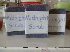 Handmade 100% Natural Soap: Midnight Scrub