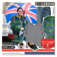 """""""Pack and Go: London"""" by elena-starling ❤ liked on Polyvore featuring Frame Denim, Shrimps, Spicher and Company, Duffy, Chloé, women's clothing, women, female, woman and misses"""