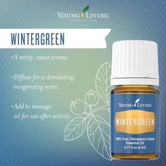 FUN FACT about the Young Living Essential Oils FRIDAY: Did you know that Wintergreen Oil is an ingredient in Deep Relief Roll On? It contains a stimulating and invigorating scent ,making it an ideal addition to lotions and ointments that are applied after physical activity. https://www.facebook.com/lauraleelees.oils