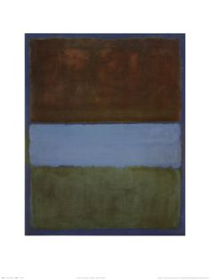 No. 61 (Brown, Blue, Brown on Blue), c.1953 Print by Mark Rothko at Art.com