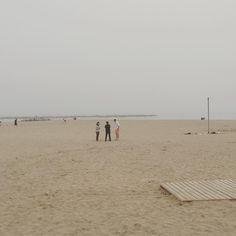 Noviembre! É ora che Il mare se ne vada in vacanza! Sparito! #playa #barceloneta #barcelonetabeach #wintersea #winter