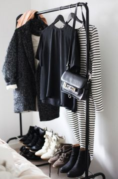 black and white closet