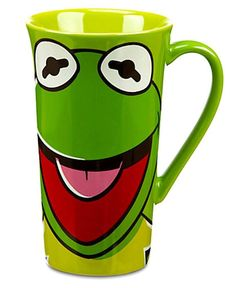 Disney Kermit Tall Latte Mug The Muppets Ceramic