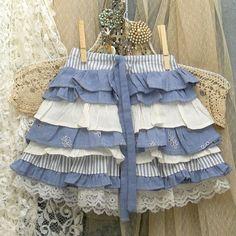 """Girl's Ruffled Skirt With """"Bustle"""" Back Custom Made by Resurrection Rags, via Flickr"""