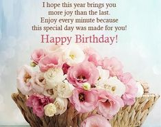 Birthday Quotes : Happy Birthday Messages – Birthday wishes, Images and quotes. Happy Birthday Wishes For Her, Best Happy Birthday Quotes, Happy Birthday Typography, Birthday Wishes And Images, Happy Birthday Flower, Birthday Wishes Messages, Happy Birthday Beautiful, Birthday Blessings, Happy Birthday Pictures
