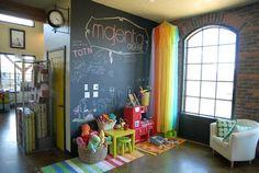 chalkboard wall for kid's corner of art studio?