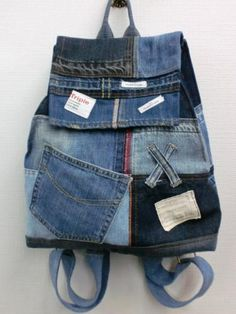 4番 リュック 『手作り リメイク デニム バック』 - Jeans & Casual WING