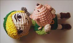 Pig free crochet pattern by Nerdigurumi (Pig is part of a set)