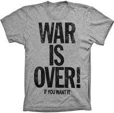 War Is Over If You Want It To Be Womens John Lennon Inspired T-Shirt The Beatles