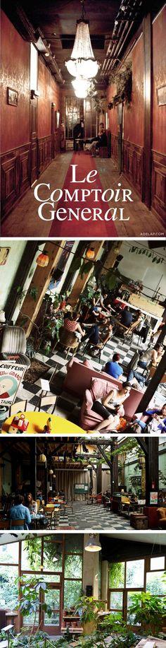 LE COMPTOIR GÉNÉRAL / Bar, resto expo / 80 quai de Jemmapes, Paris X / Metro République ou Goncourt > www.lecomptoirgeneral.com