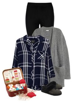 """Cozy at Home"" by sherry7411 ❤ liked on Polyvore featuring Wolford, Rails, UGG and Moulin Roty"