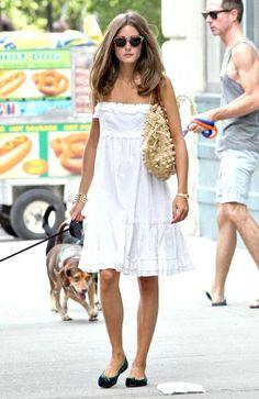 Olivia Palermo in white sundress Olivia Palermo Stil, Olivia Palermo Lookbook, Estilo Ivy, Looks Street Style, Summer Outfits, Summer Dresses, White Dress Summer, Inspiration Mode, Fashion Mode