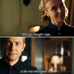 """Who you thought I was is the man who I want to be"" - John and Mary #Sherlock"