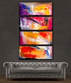 "'Abstract view' - 48"" X 30"" Original  Art . Free shipping within USA & 30 day return policy."