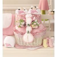 New Twin Girl Newborn Gift Basket