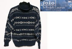 Vintage 1980s Polo by Ralph Lauren Ireland Knit by schippervintage, $29.99