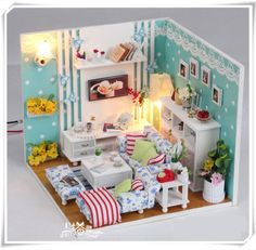 Blue doll's room