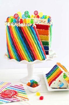 cute rainbow cake
