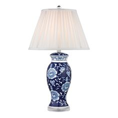 Dimond Blue and White 1-light Hand-painted Ceramic Table Lamp - Overstock Shopping - Great Deals on Sterling Table Lamps