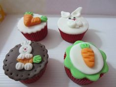Cake Carrot Cups Ideas For 2019 Cupcakes Fondant, Easter Cupcakes, Easter Cookies, Mini Cupcakes, Cake Decorating Tutorials, Cookie Decorating, Cop Cake, New Cake Design, Adventure Time Cakes