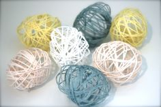 DIY Easter Yarn Eggs