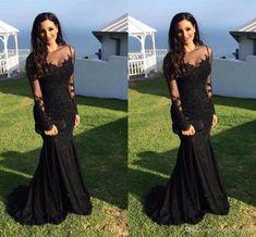 Mermaid Lace Black Beading Prom Dress,Long Prom Dresses,Charming Prom Dresses,Evening Dress, Prom Gowns, Formal Women Dress,prom dress