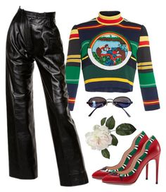 """""""Untitled #13"""" by purify ❤ liked on Polyvore featuring Gucci, Tata Naka, Yves Saint Laurent and Fendi"""