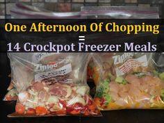 14 Delicious Crockpot Freezer Meals