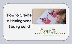 How to Create a Herringbone Background