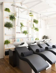 Salon Furniture Mistake!!! Maybe these shampoo chairs may look very nice and comfortable but ... Do you imagine physical wear and tear when you have to help each of your clients to lie down and get up each day every day?
