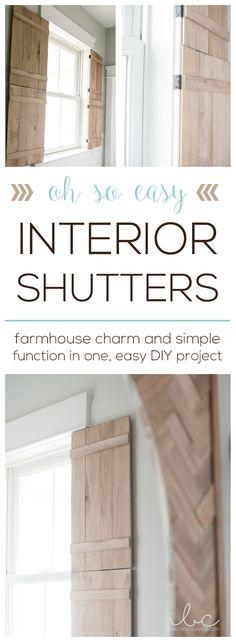 easy farmhouse DIY Interior Shutters   inbetweenchaos.com