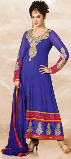 4,740 Cost includes Dress material for Kameez, Bottom & Dupatta. Worldwide Shipping is FREE (Guaranteed 2 Business days dispatch) Tentative Delivery By 12 Feb, 2015  401818: Blue color family unstitched Bollywood Salwar Kameez.