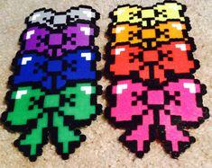 Perler bead bows