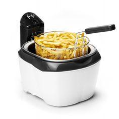 Friteuse Frifri 918 Avec la friteuse ronde Frifri 918 blanche et noire, obtenez des frites moins grasses (Zone froide) et plus croustillantes grâce à ses 3200W.