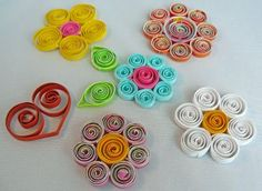 Quilled flowers - tutorial