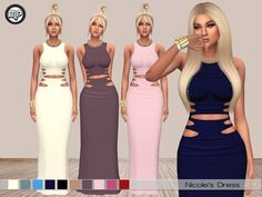 MP Nicole's Dress at BTB Sims – MartyP via Sims 4 Updates