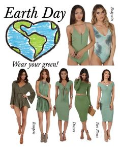 """Earth Day!"" by windsorstore on Polyvore featuring GREEN and earthday"