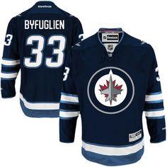Men's Winnipeg Jets Dustin Byfuglien Reebok Navy Blue Home Premier Jersey