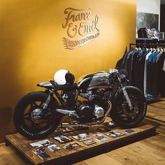 I think I need to put a door between my closet and the garage for my new motorcycle! Nico Mueller's CB750 Custom Bike #heaxmobile #emp #athletestravel