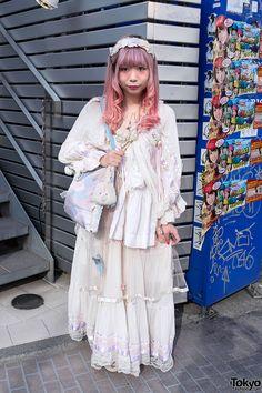 """antique"" fashion style ... Chun, 22 years old, works at New York Joe Exchange (in Shimokitazawa)   7 June 2013  "