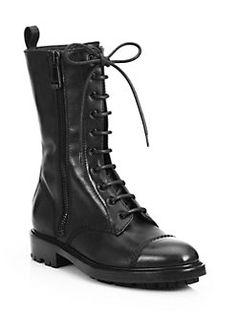 Belstaff - Lace-Up Leather Combat Boots