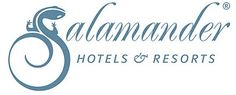 Salamander Hotels & Resorts logo using pictorial as letter form.