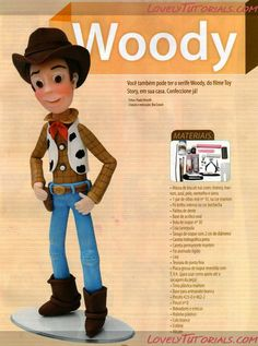 Woody step by step tutorials. and other toy story characters too!