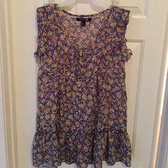 Tunic - Babydoll Dress - Forever 21 - Flower Print Rayon Babydoll.... Forever 21 Forever 21 Dresses