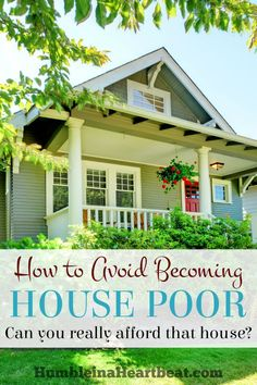 When a lot of the money you make each month goes towards your house payment and other costs related to it, you are house poor. Here's what you can do before you buy a house, or even if you are already in a house, to avoid becoming house poor. Buying First Home, Home Buying Tips, Home Buying Process, First Time Home Buyers, Save For House, Home Ownership, Ways To Save Money, Money Tips, Unique Home Decor