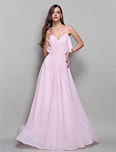 A-Line/Princess correas palabra de longitud gasa vestido de ... – USD $ 129.99