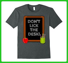 Mens Don't Lick the Desk Funny Teacher T Shirt 2XL Dark Heather - Careers professions shirts (*Amazon Partner-Link)