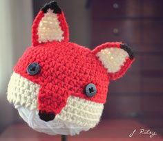 Crochet Fox Hat Pattern-Free | Crochet Hats