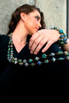 Signature Necklace handmade in Haiti!  Liberate Jewelry, partnered with ApParent Project #Liberate #Jewelry #Haiti